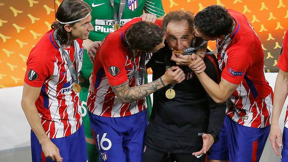 Foto: El Profe Ortega, en la última final de Europa League. (Reuters)