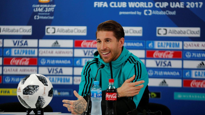 Sergio Ramos durante la rueda de prensa de este viernes en Abu Dabi. (Reuters)