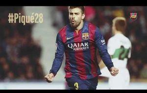 Así felicitó el Barcelona a Piqué