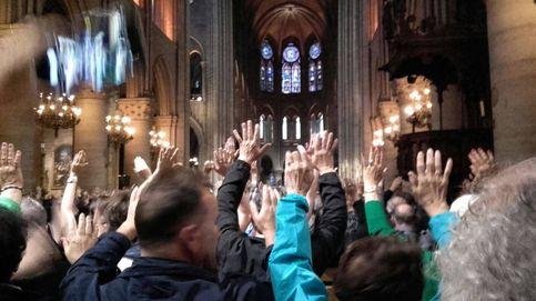 Angustia en Notre Dame: Nos pidieron subir las manos, nos cachearon. Horrible