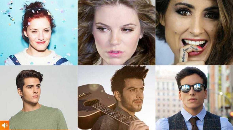 Foto: Los 6 aspirantes a representar a España en Eurovisión (RTVE)