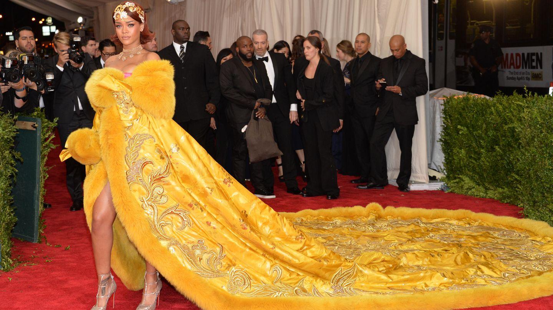 Rihanna, en la gala del MET. (Gtres)