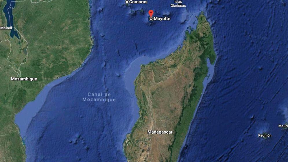 Foto: Mayotte, entre África y Madagascar, desde donde partió el misterioso zumbido (Google Maps)