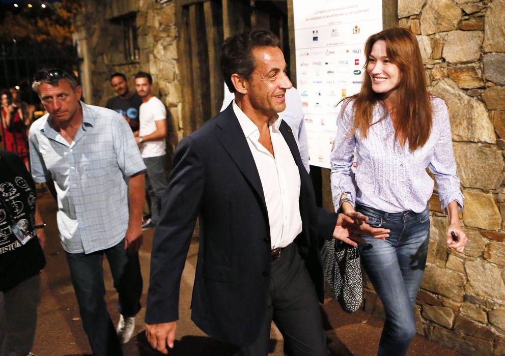 Foto:  Nicolas Sarkozy y Carla Bruni el pasado verano. (I.C.)