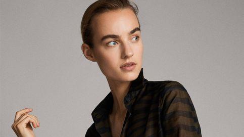 Esta blusa de Massimo Dutti tiene el estampado ideal para chicas de talla media