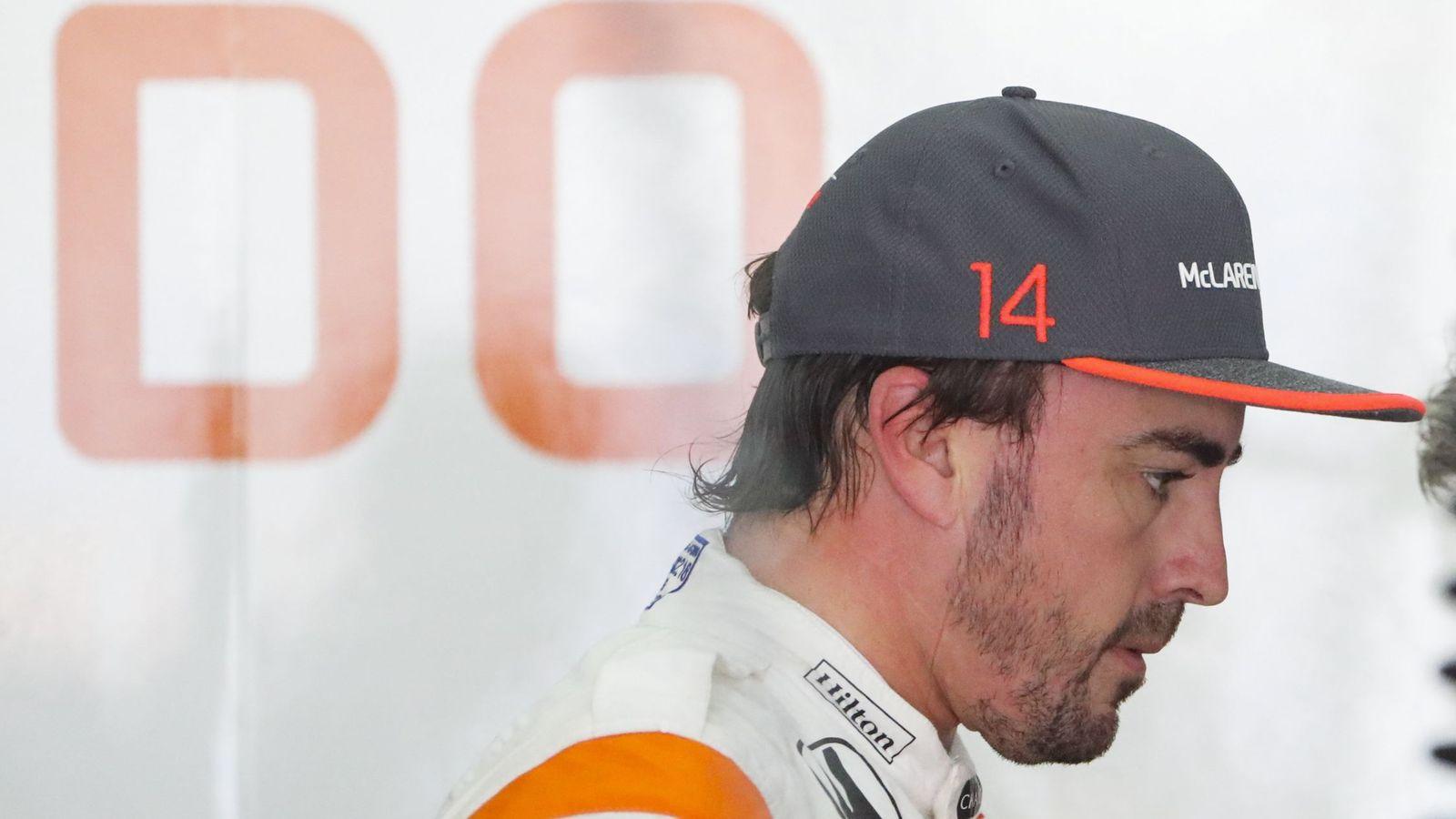 Foto: Fernando Alonso durante el fin de semana de Malasia. (EFE)