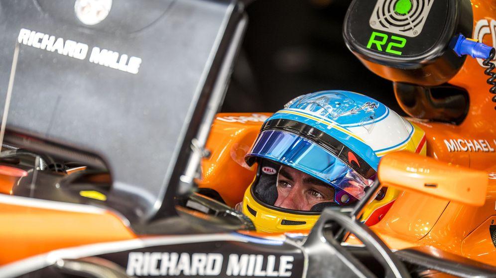Foto: Fernando Alonso, durante este GP de Baréin. (EFE)