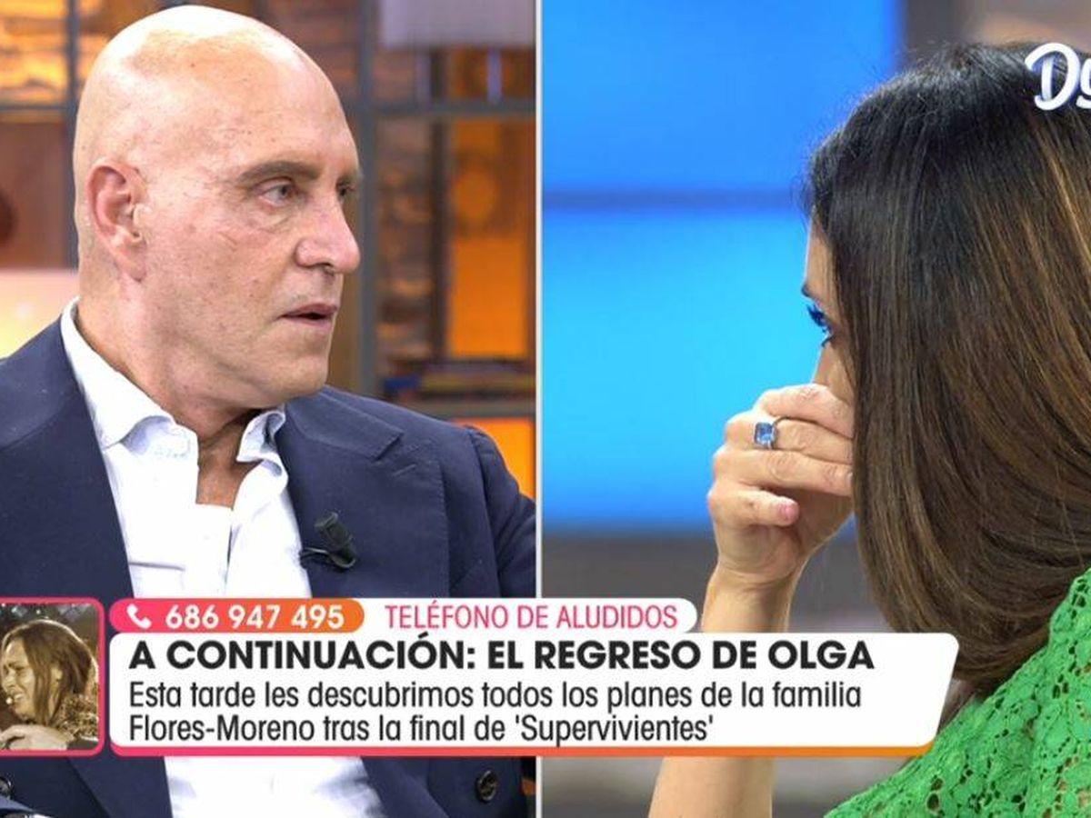 Foto: Kiko Matamoros e Isabel Rábago, en 'Viva la vida'. (Mediaset España)