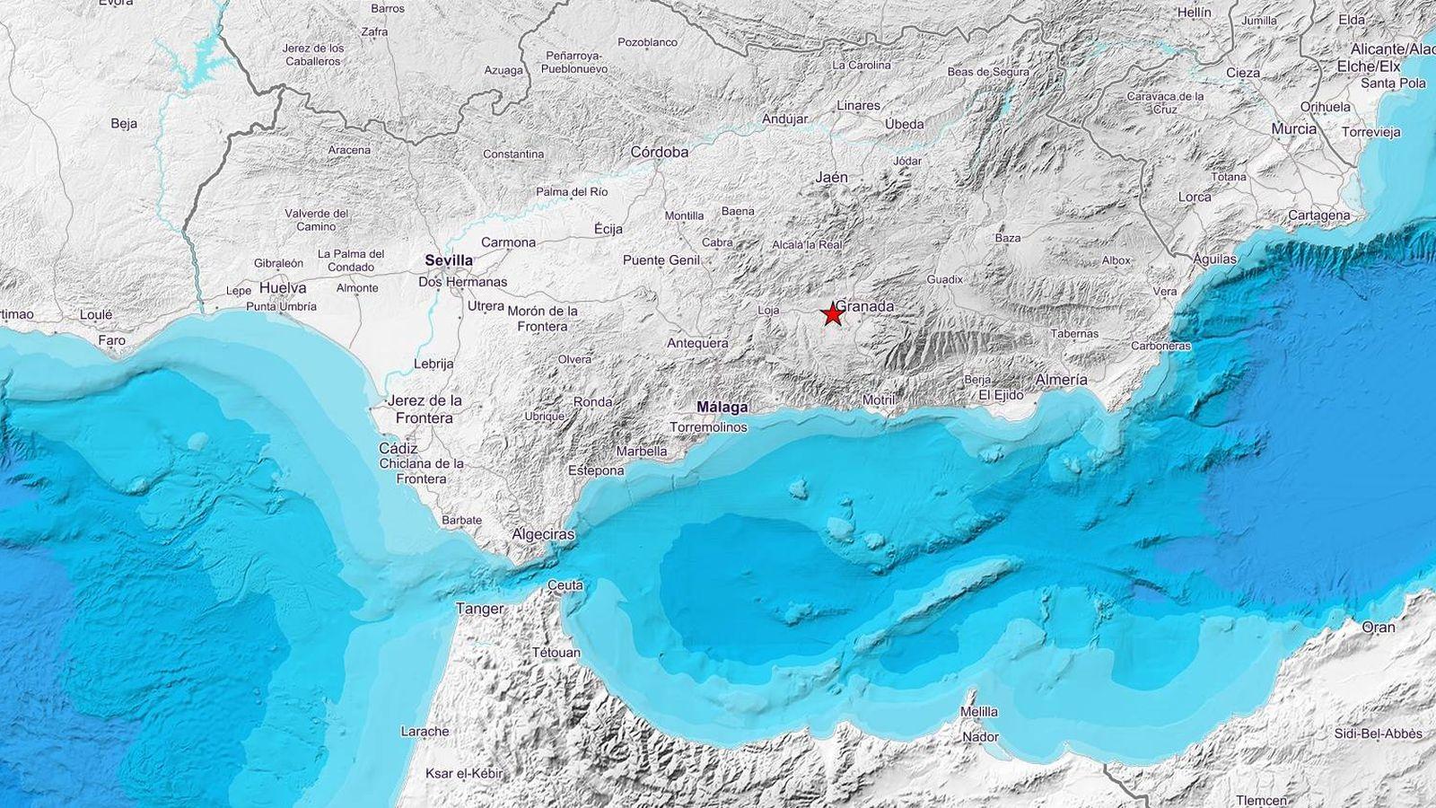 Foto: Epicentro del terremoto en Granada (IGN)