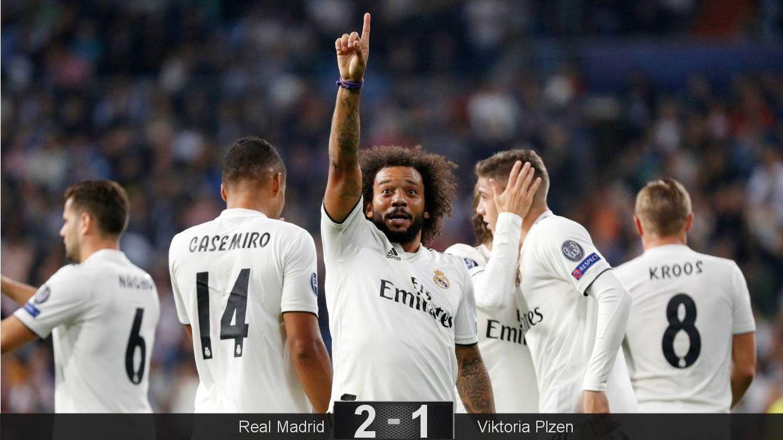 Foto: Marcelo celebra su gol. (Reuters)