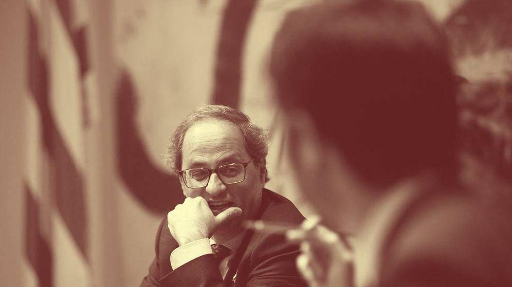 Foto: Quim Torra en la última reunión del gobierno catalán. (EFE)