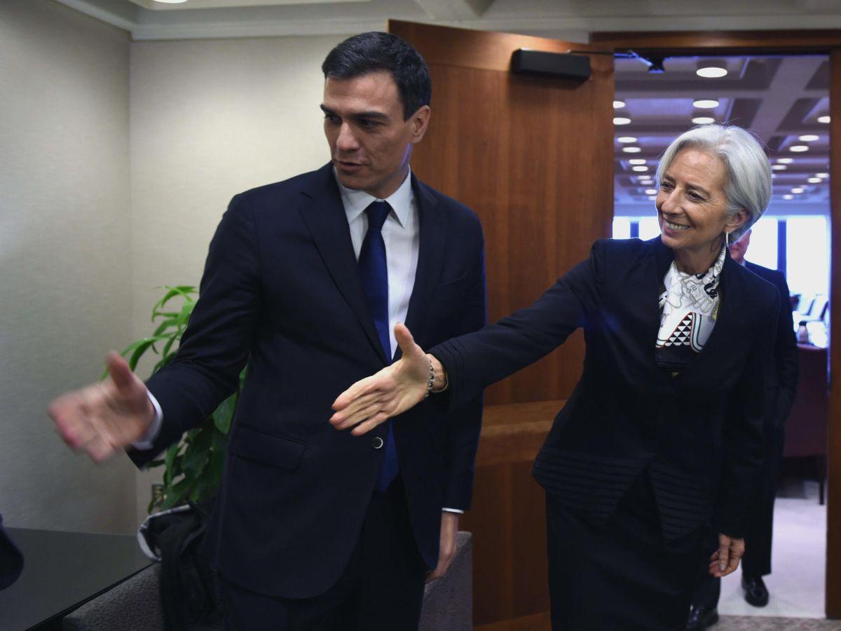 Foto: Pedro Sánchez y Christine Lagarde, en una imagen de archivo. (EFE)