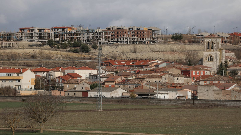 Buniel (Burgos) aprobó un desarrollo gigantesco en suelo agrícola que resultó un fracaso. (D.B.)