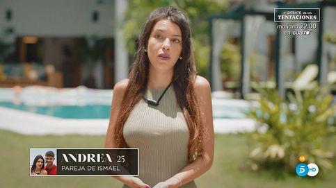 Andrea ('Tentaciones') explota ante los ataques: Tenéis maldad dentro