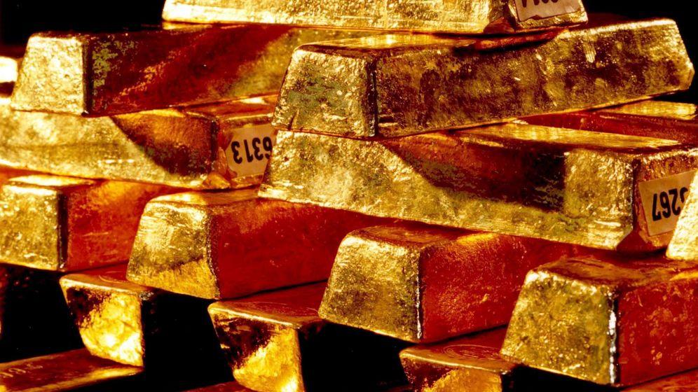 Foto: Lingotes de oro.