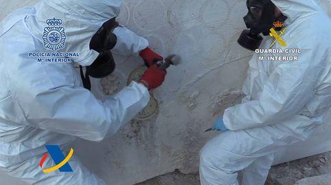 Incautados 752 kg de metanfetamina dentro de enormes bloques de mármol