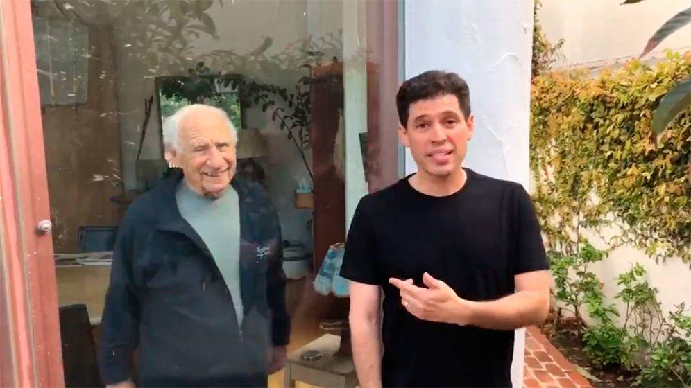 Foto: El vídeo de Mel Brooks y su hijo Max ha sido visto por millones de personas (Foto: Twitter)