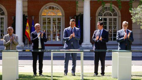Sánchez firma con patronal y sindicatos el acuerdo para la reforma de las pensiones