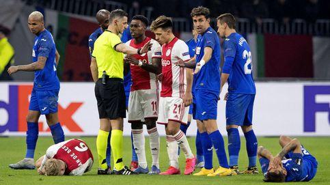 Insultos, reproches y cerveza: la pesadilla del Getafe en su histórica noche contra el Ajax