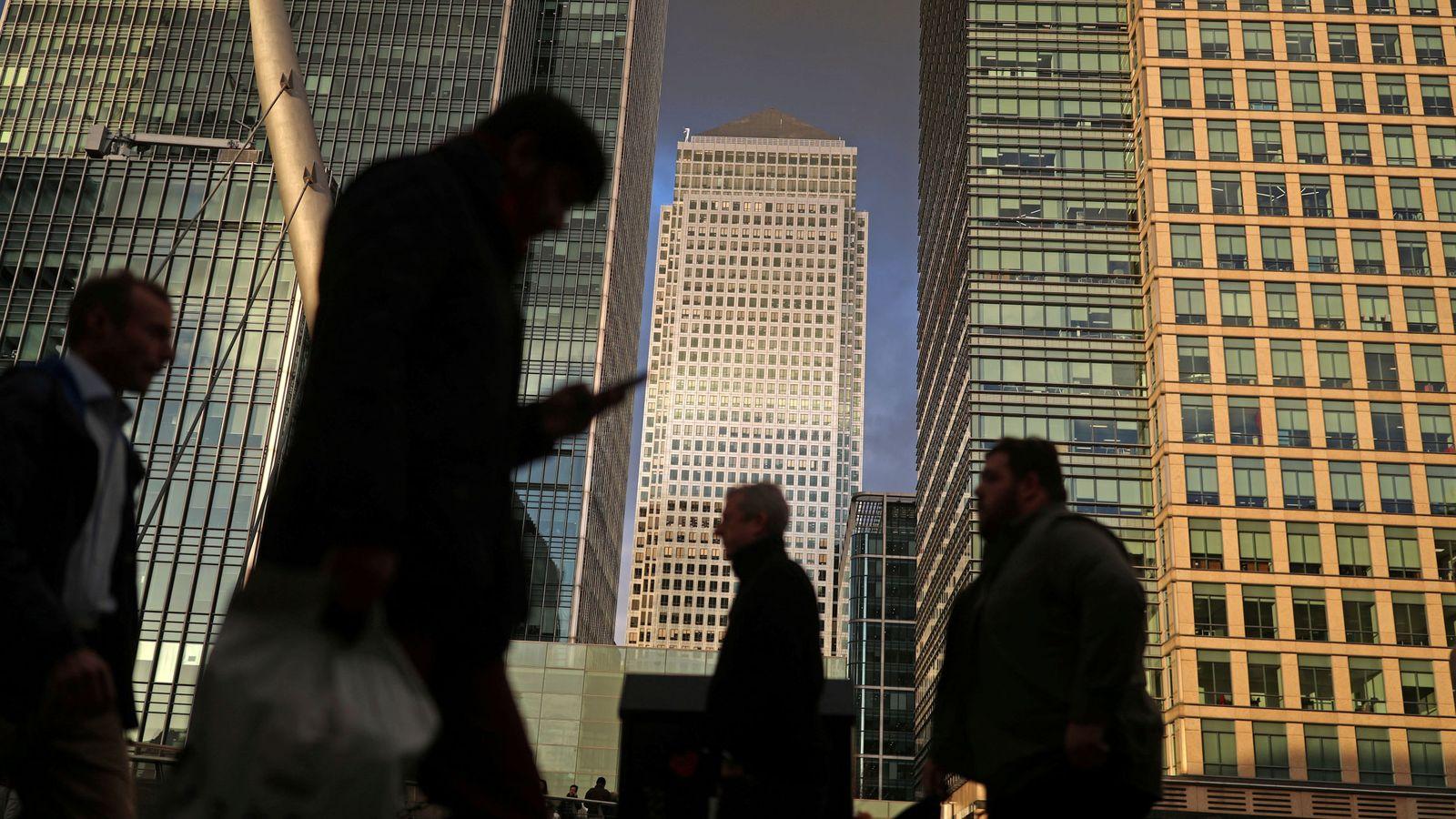 Foto: El distrito financiero de Londres. (Reuters)