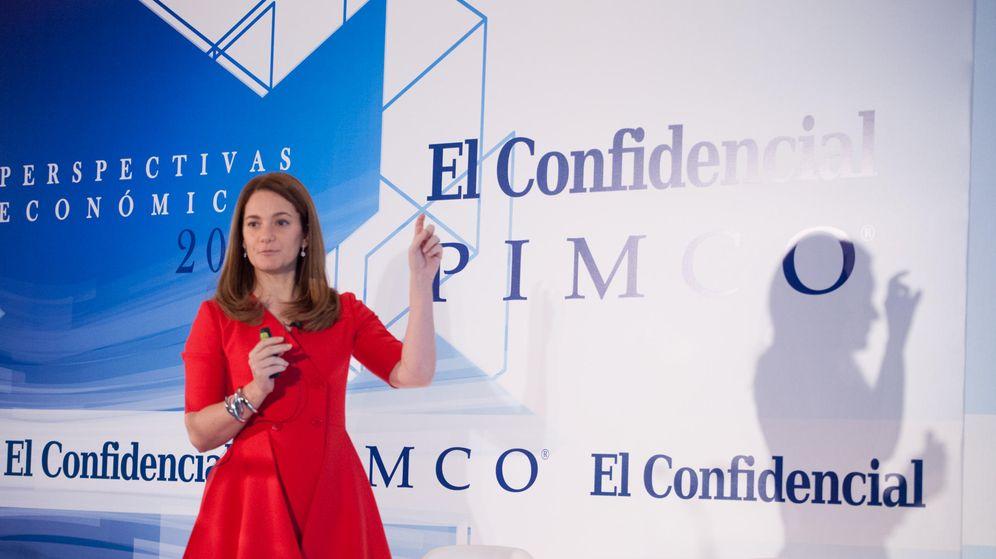 Foto: Geraldine Sundstrom, responsable de distribución estratégica de activos de PIMCO. (Jorge Álvaro Manzano)