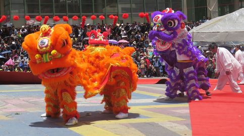 La paz celebra con danzas el cuarto festival del año nuevo chino