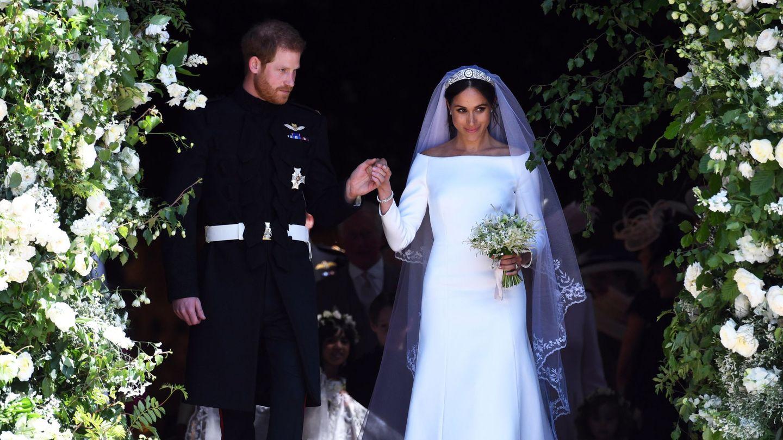 Los duques de Sussex, el día de su boda. (Reuters)