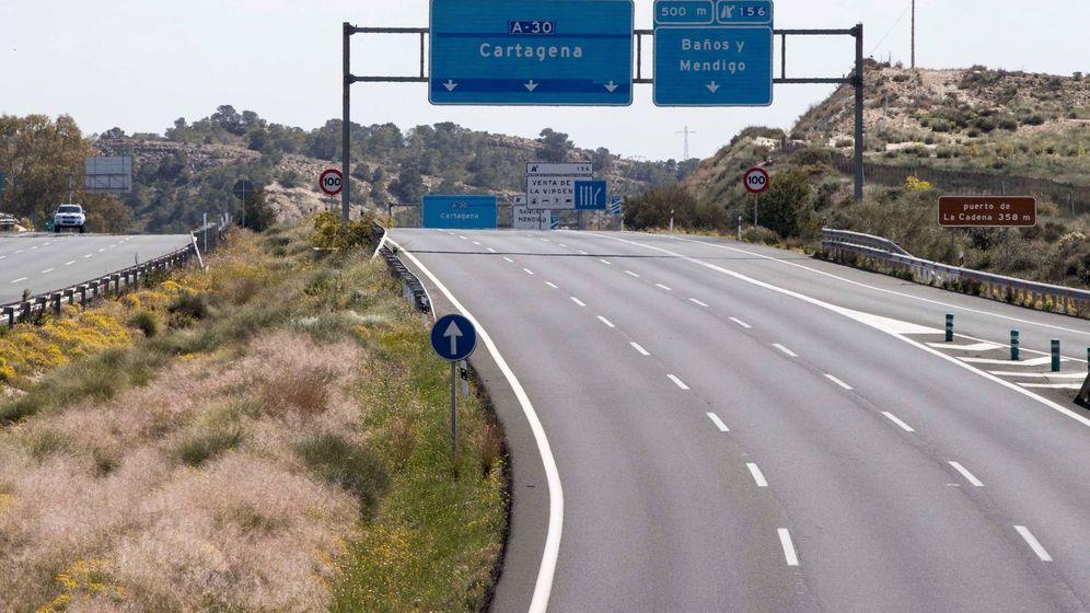 Foto: Tramo de la autovía A-30 que une Murcia y Cartagena. (EFE)