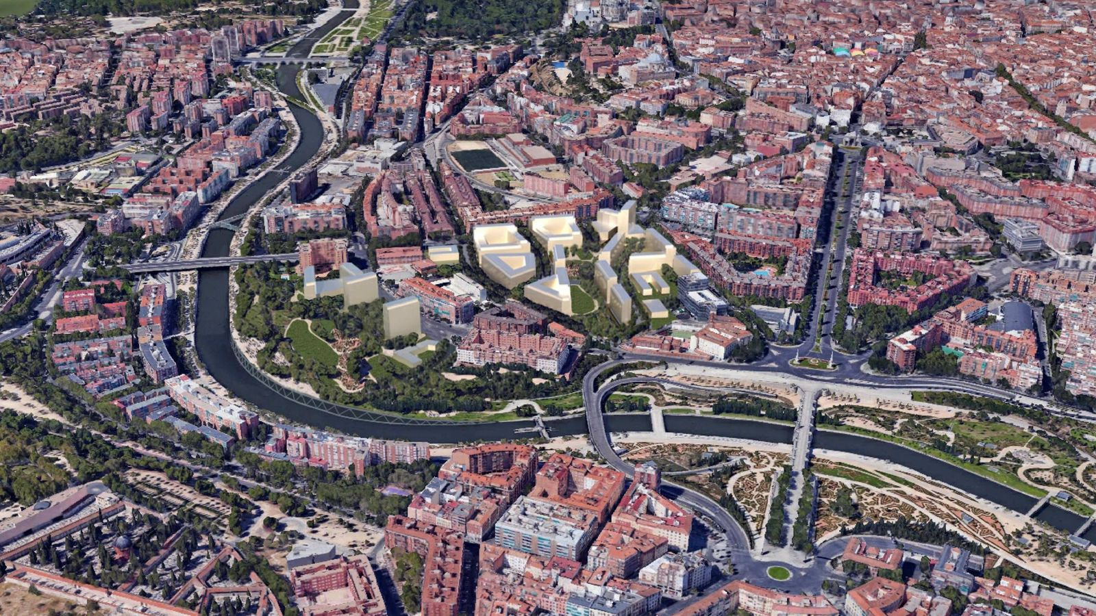 Foto: Proyección de cómo se integrará Operación Calderón en Madrid