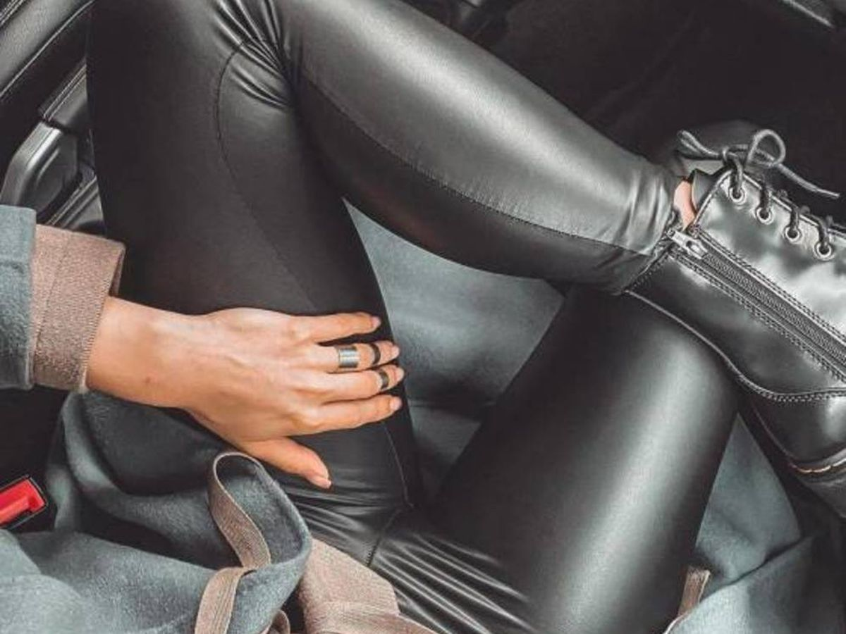 Foto: Valeria Marletta con leggings de polipiel. (Instagram @valeria_kalabina)