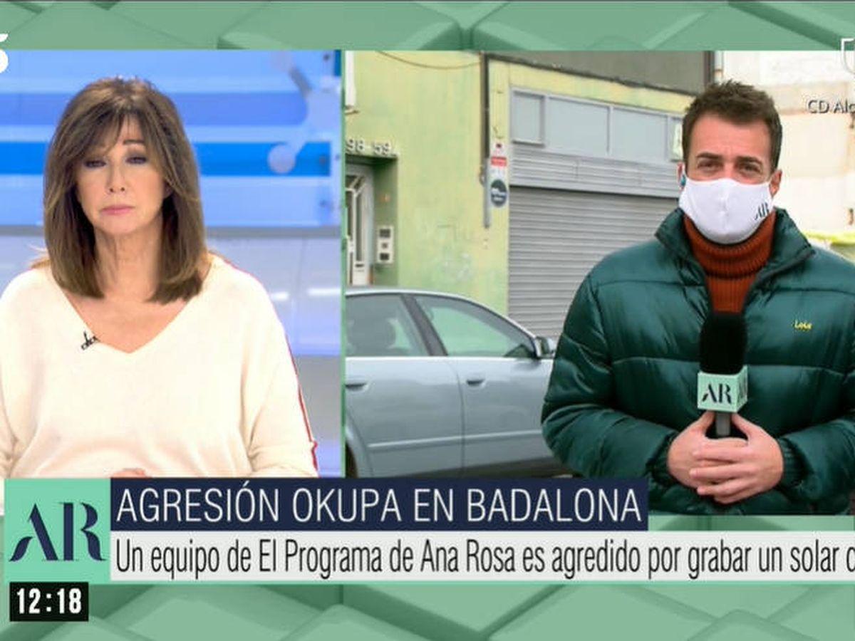 Foto: Agresión a 'El programa de Ana Rosa'. (Telecinco)