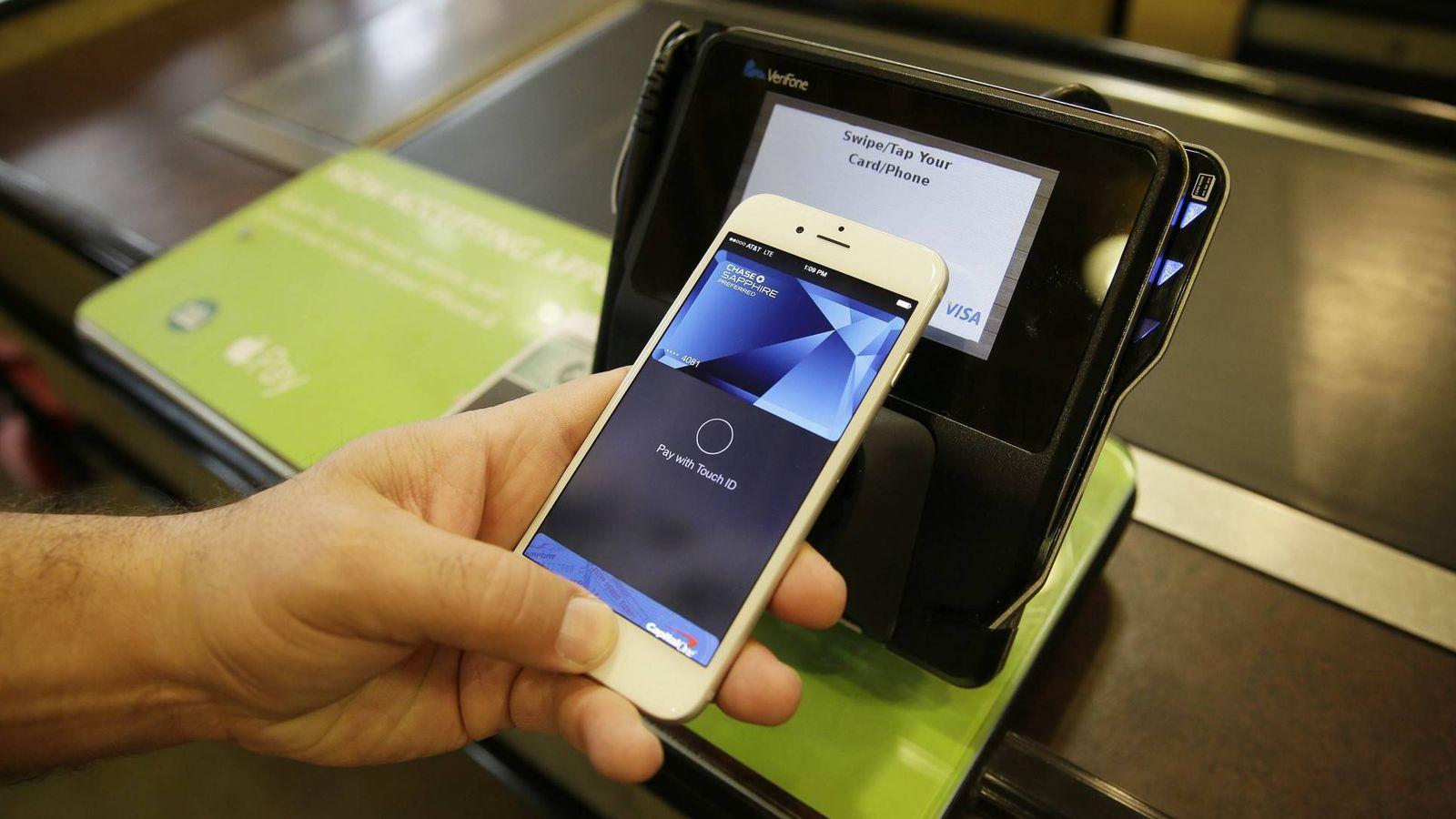 Foto: El sistema Apple Pay, en acción