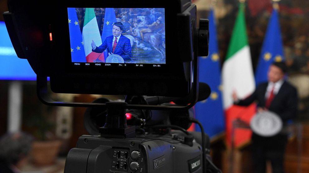 Menos impuestos, más pensiones: Renzi promete todo ante el avance del no
