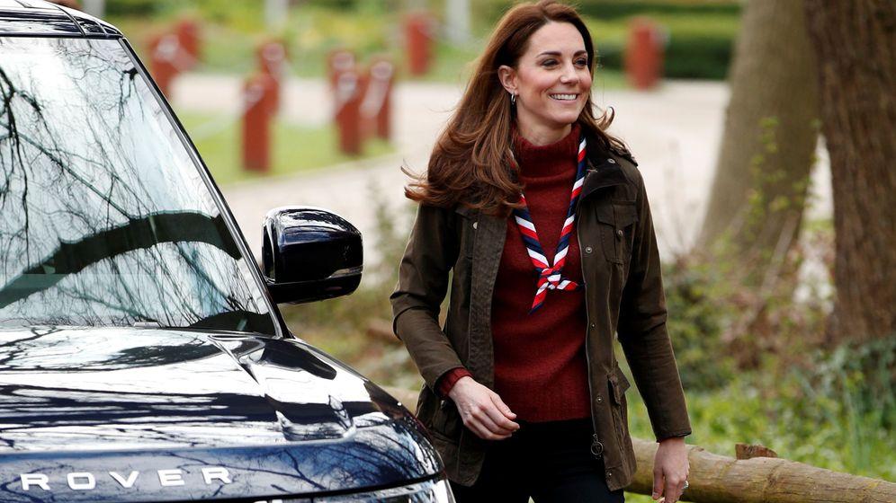 Foto: Kate Middleton llegando a Gilwell Park para el acto. (Reuters)