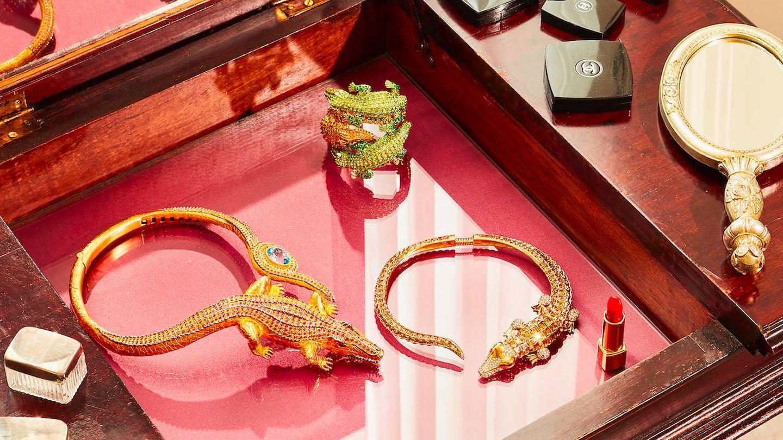 Joyas con el cocodrilo rendido al exceso, las preferidas de Anna Dello Russo. (Cortesía)