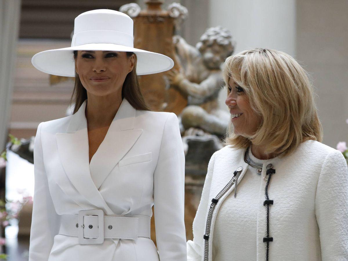 Foto: Melania Trump y Brigitte Macron. (Getty)