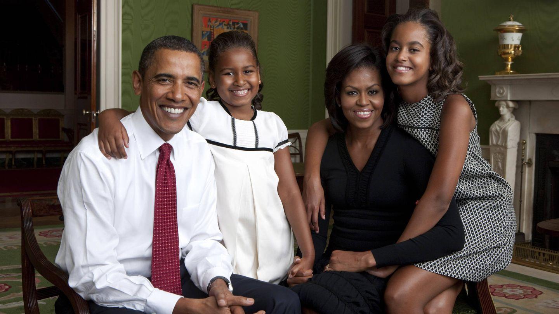 Retrato familiar en la Casa Blanca. (Getty)