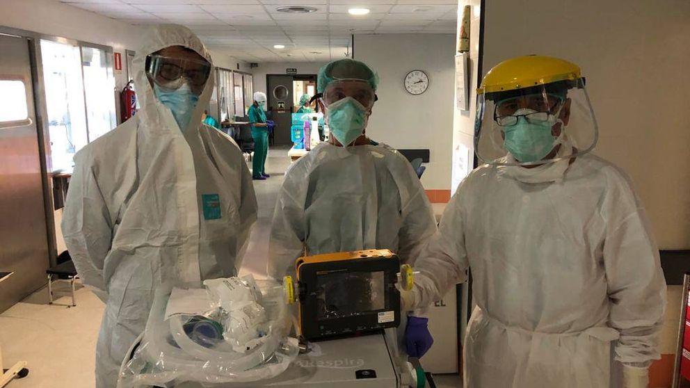 Ya funciona el primer ensayo clínico del respirador diseñado en Andalucía