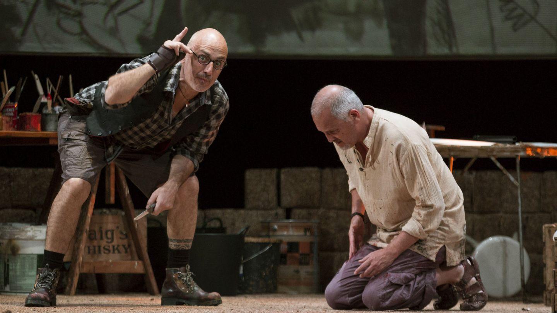 En la obra de teatro 'El pintor de batallas'. (EFE)