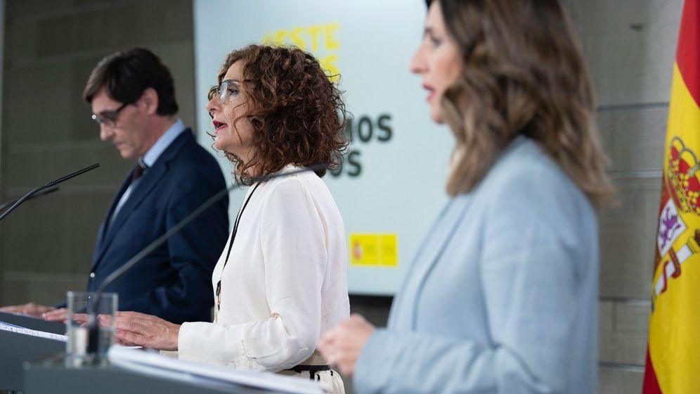 Foto: La ministra de Trabajo, Yolanda Díaz, en la rueda de prensa posterior al Consejo de Ministros. (Efe)