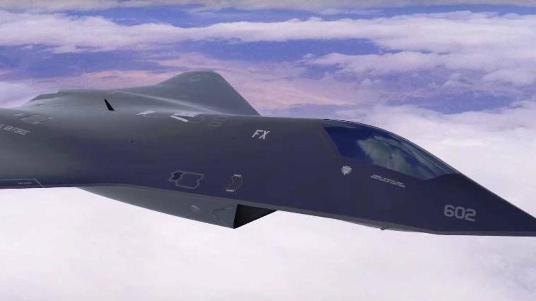 Imagen artística del FX, concepto anterior al NGAD. (Lockheed)