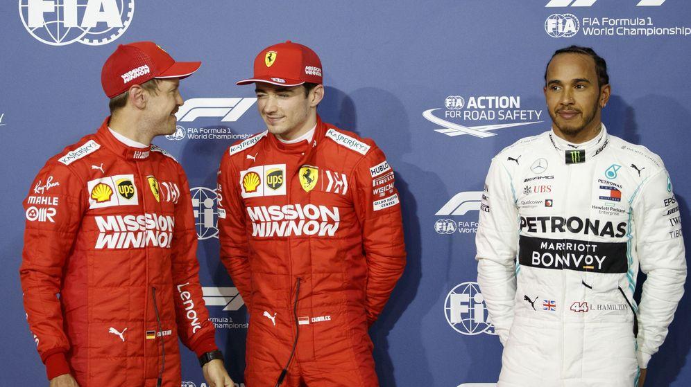 Foto: Leclerc le birló la pole a Vettel en Bahréin