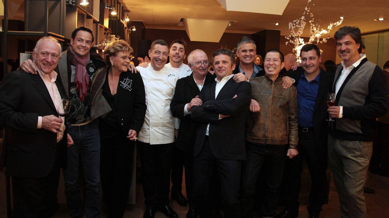 Rosa Esteva, con muchos de los mejores chefs del país. (Cortesía)