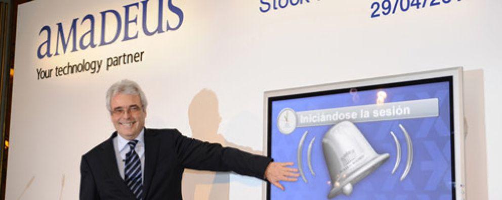 Amadeus se dispara en su reestreno en la bolsa española cinco años después