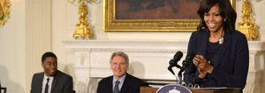 Michelle Obama y Harrison Ford, juntos para hablar del último filme del actor