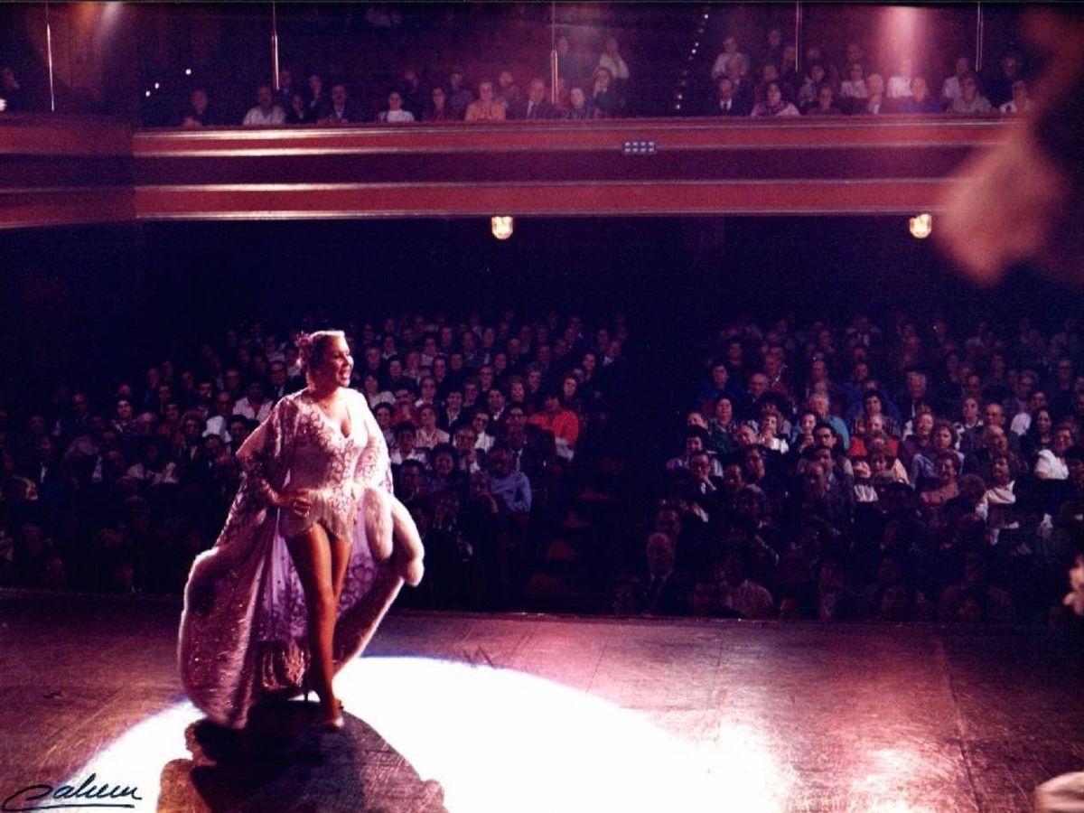 Foto: Lina Morgan en una actuación en el Teatro La Latina