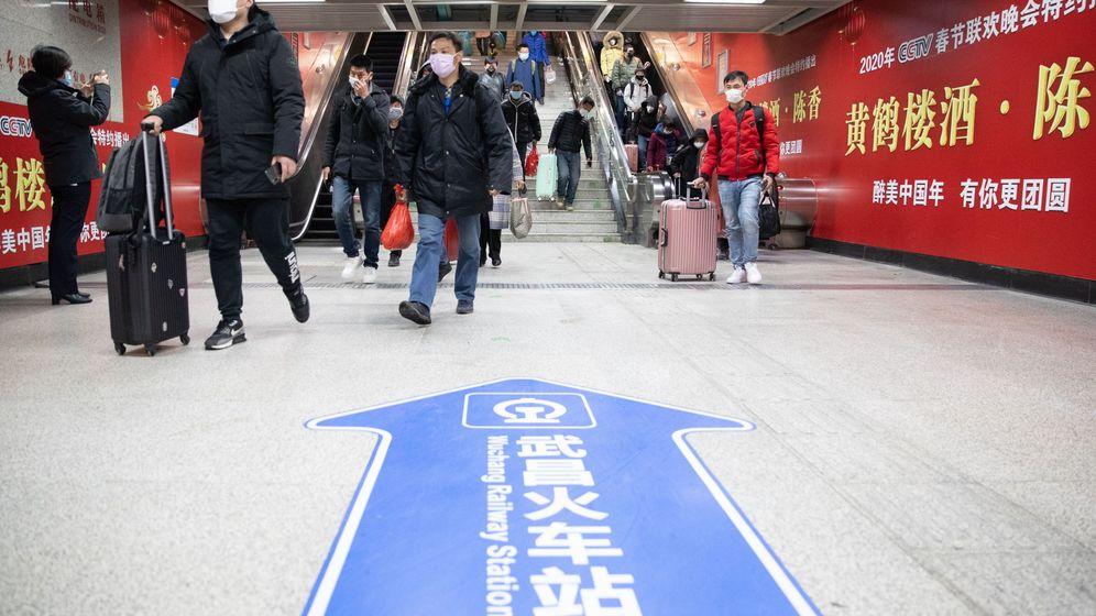 Foto: Metro de Wuhan, el 28 de marzo (EFE)