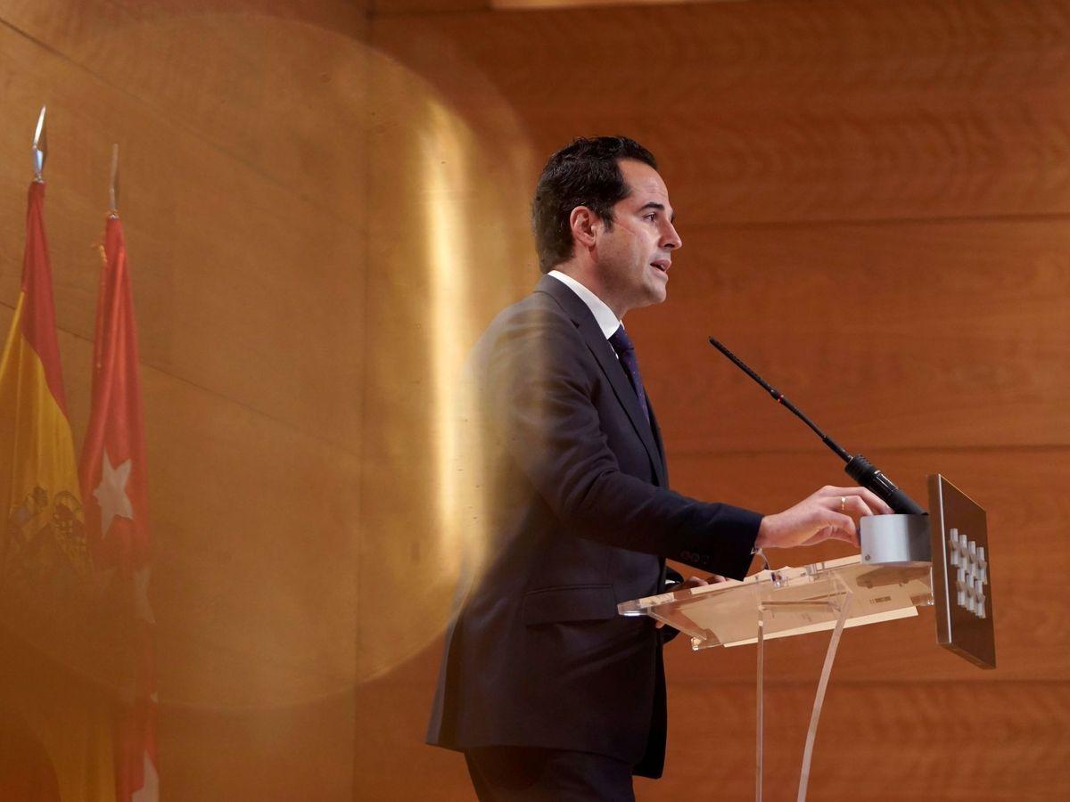 Foto: Ignacio Aguado durante una rueda de prensa. (EFE)