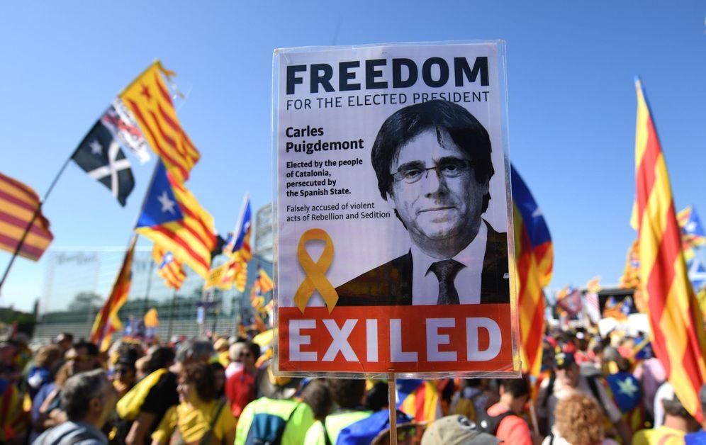 Foto: Manifestación independentista frente al Parlamento Europeo, el año pasado. (EFE)