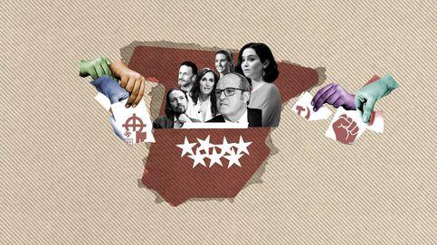 Del 'mena' de Vox a la 'desaparición' de Iglesias: la batalla de los carteles del 4-M